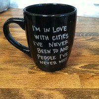 paper towns quote mug / coffee cup , custom and personalized mug