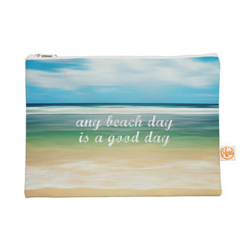 "Sylvia Cook ""Any Beach Day"" Coastal Typography Everything Bag"