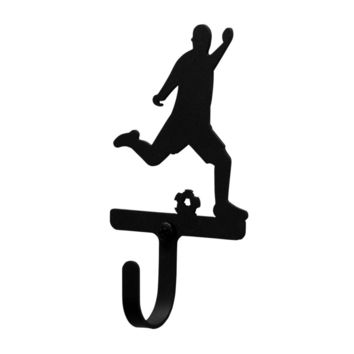 Wrought Iron Soccer Player Decorative Wall Hook Small