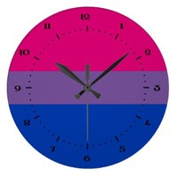 Bisexuality flag clocks