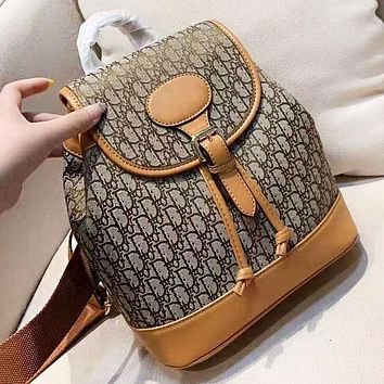 DIOR New fashion more letter leather backpack bag women