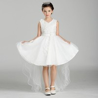 Children Dresses Costumes Summer Appliques Lace Ball Gown Princess Lolita Style Dress Mesh Cute Style Formal Girls Dress