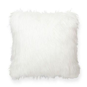 Posh365 Luxury White Furry Throw Pillow | Wayfair