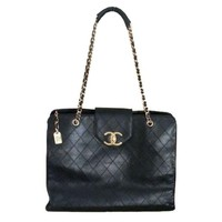 "Pre-owned Chanel Super Model 18"" Large Quilted CC Bag"
