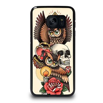 OWL STEAMPUNK ILLUMINATI TATTOO Samsung Galaxy S7 Edge Case Cover