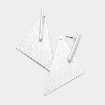 Bling Dramatic Geometric Triangle Earrings