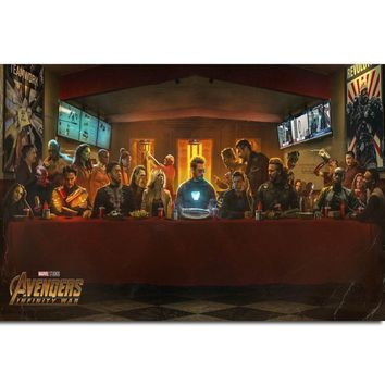 S16 Avengers Infinity War 2018 Marvel Movie Wall Art Painting Print On Silk Canvas Poster Home Decoration
