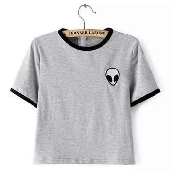 2017 alien printed clothes T-shirts for women tee shirt