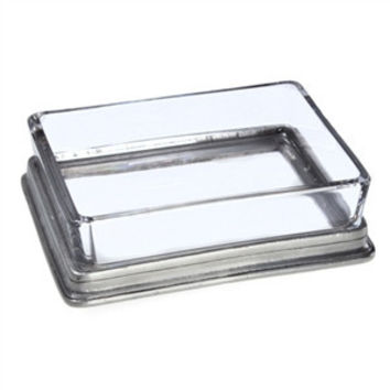 Match Pewter |  Glass Butter Dish