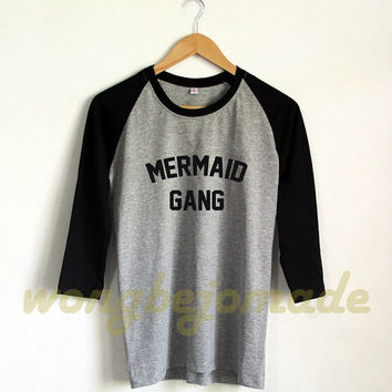 Mermaid Shirt - Disney Princess Tshirt Baseball Raglan 3/4 Tee Shirts Tshirt Unisex Size