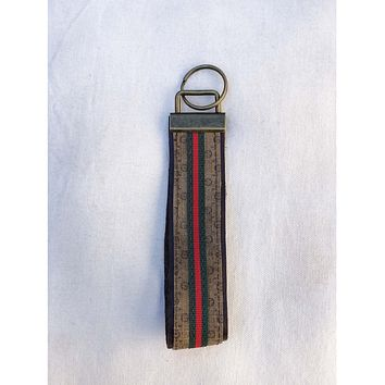 Upcycled Gucci Key Fob Large