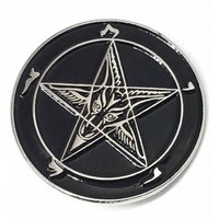 Mysticum Luna Satan's Signet Pin Badge | Attitude Clothing