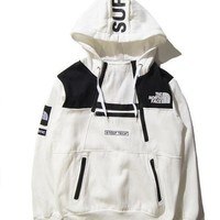 PEAPDQ7 Unisex Lover's Supreme & The North Face Pullover Sweaters Hoodies