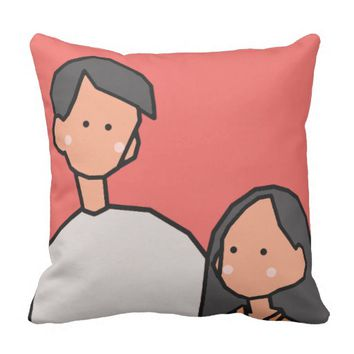 Love (Happy Valentine's Day) Throw Pillow