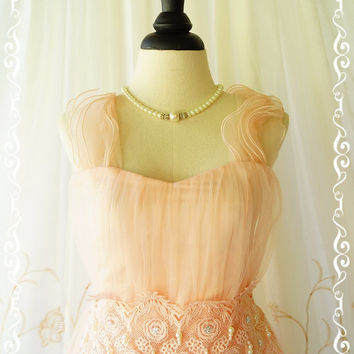 Gorgeous Princess Tutu Cocktail Dress Pale Pink Dress Flutter Straps Prom Dress Party Dress Wedding Bridesmaid Dress Lacy Waist US 0-4