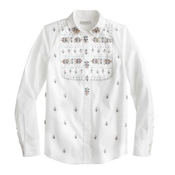Collection Thomas Mason For J.Crew Embellished Shirt