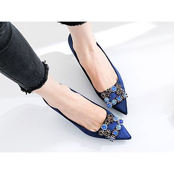 Hot sales fashionable sexy women's diamond pointy heels