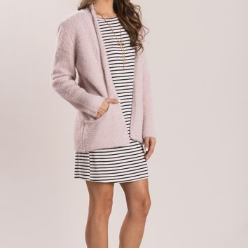 Victoria Blush Eyelash Knit Cardigan
