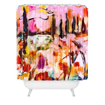 Ginette Fine Art Abstract Tuscany Shower Curtain