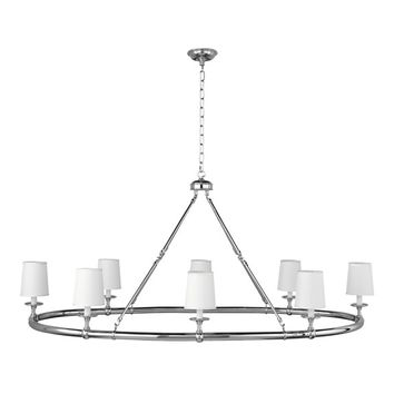 Devon, 8-Light Chandelier, Polished Nickel
