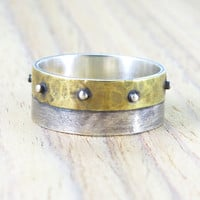 Wedding ring,band,silver sterling, rustic, stempunk, mens ring, unique design