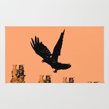 Crow Prey Rug by ES Creative Designs