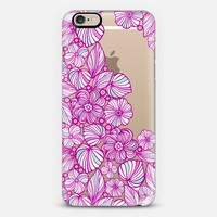 charming purple flowers iPhone 6 case by Julia Grifol Diseñadora Modas-grafica | Casetify
