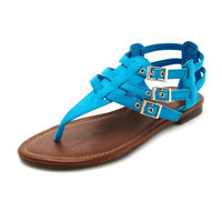 Charlotte Russe - Sueded T-Strap Gladiator Sandal