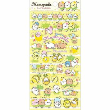Mamegoma in Paradise Yellow Sticker Sheet