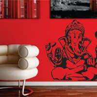Ganesha Elephant Version 1 Design Decal Sticker Wall Vinyl Decor Art