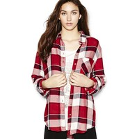 THE BOYFRIEND SUPER SOFT PLAID SHIRT