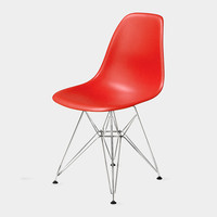 Eames® Molded Plastic Side Chair with Wire Base (DSR) | MoMA