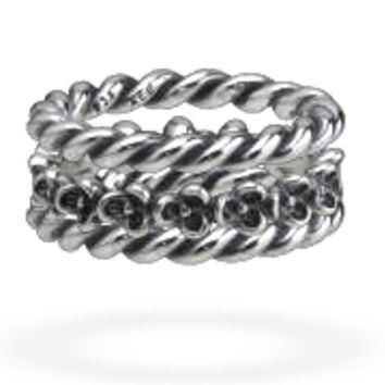 Authentic Pandora Jewelry - Silver Ring Stack