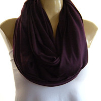 Sophisticated Eggplant... Nomad Cowl.....Infinity Scarf..Relaxed version