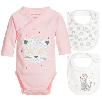 Little Marc Jacobs Baby Girls Romper & Bibs Gift Set