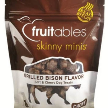 Fruitables Skinny Minis Grilled Bison Dog Treats 5oz