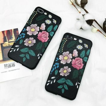 Luxury Vintage Rose Flower Phone Case