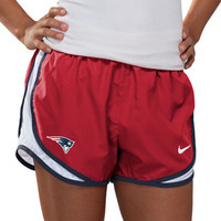 New England Patriots Women's Red Nike Dri-Fit NFL Tempo Short