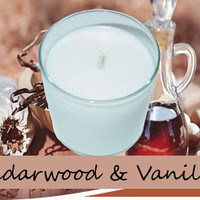 Cedarwood Vanilla Scented Candle in Tumbler 13 oz