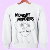 Midnight Memories 1D Signatures Crewneck