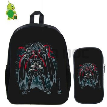 Anime Backpack School kawaii cute Thundercats Lion-O Fluorescence Backpack 2 Pcs/set School Bag for Teenagers Students Book Bag Daily Laptop Backpack AT_60_4