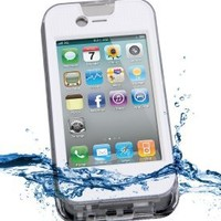 iContact Waterproof Case for iPhone 4 and 4S - Retail Packaging - Clear/White