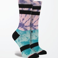 Stance Twister Block Tie-Dye Crew Socks - Womens Scarves - Pink - One