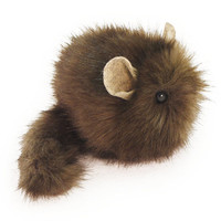 Dark Brown Stuffed Toy Chinchilla Faux Fur Plushie by Fuzziggles