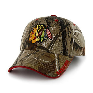 NHL Chicago Blackhawks '47 Frost MVP Camo Adjustable Hat, One Size Fits Most, Realtree Camouflage