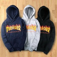 DCCKB62 Womens Thrasher Hoodies Sweatshirt