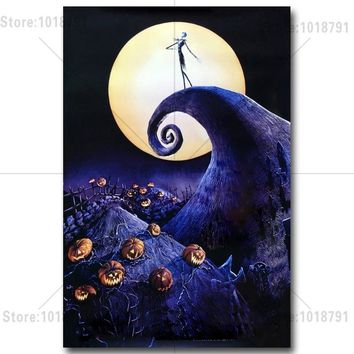 diamant painting bloemen The Nightmare Before Christmas Diamond Embroidery Cross Stitch rhinestones Decoration wall patches