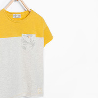Mixed sleeve T-shirt New