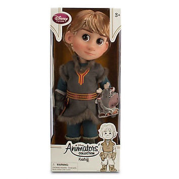 "disney store frozen animator 16"" kristoff doll with sven new edition with box"