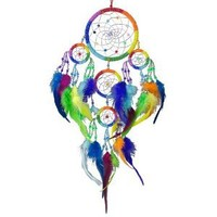Native American Indian Inspired Dreamcatcher Chakras Rainbow